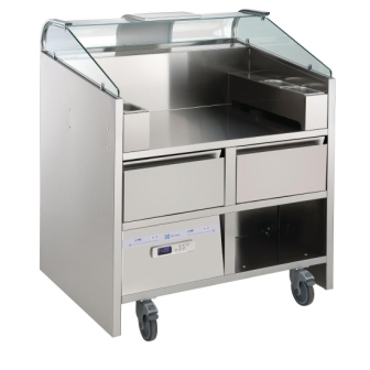 Electrolux NERLP2G 2 Point Mobile Cooking Unit with Refrigerated Drawers