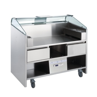 Electrolux NERLP3G 3 Point Mobile Cooking Unit with Refrigerated Drawers