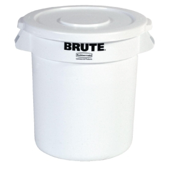Rubbermaid Round Brute Container White - 37.9Ltr