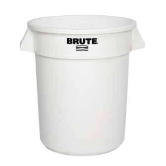Rubbermaid Round Brute Container White - 75.7Ltr