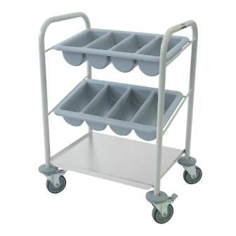 Mobile Cutlery Trolley