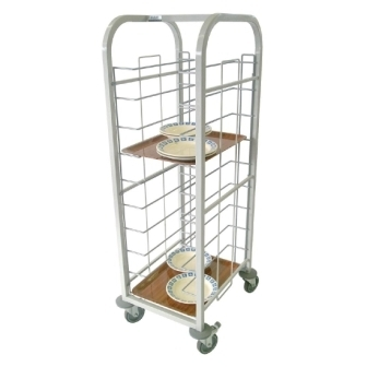 Tray Clearing Trolley - 10 level Fully Welded