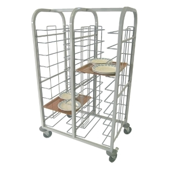 Tray Clearing Trolley - 10 level [20 trays] Fully Welded