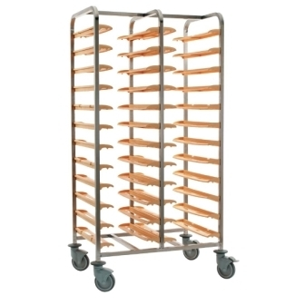 Bourgeat Cafeteria Clearing Trolley Side By Side 24 Trays, No Panel
