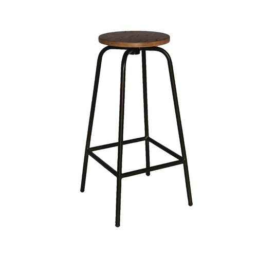 Bolero Industrial Wood & Metal Highstool (Pack 2)