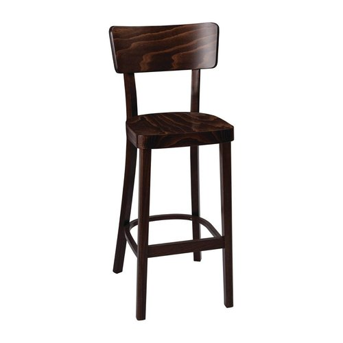 Fameg Plain Highstool - Walnut Effect