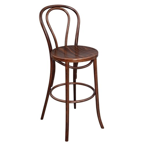 Fameg Bentwood Bistro HighStool - Walnut Effect